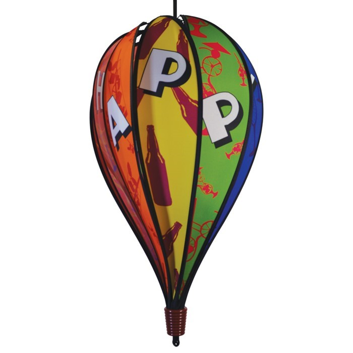 Color Pop Happy Hour 10 Panel Hot Air Balloon Spinner | In the Breeze