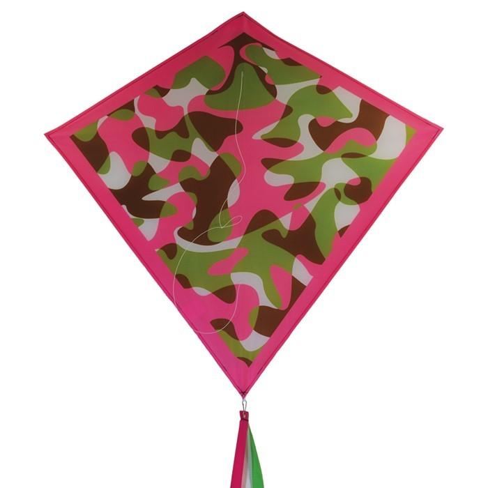 "Pink Camouflage 30"" Diamond Kite 