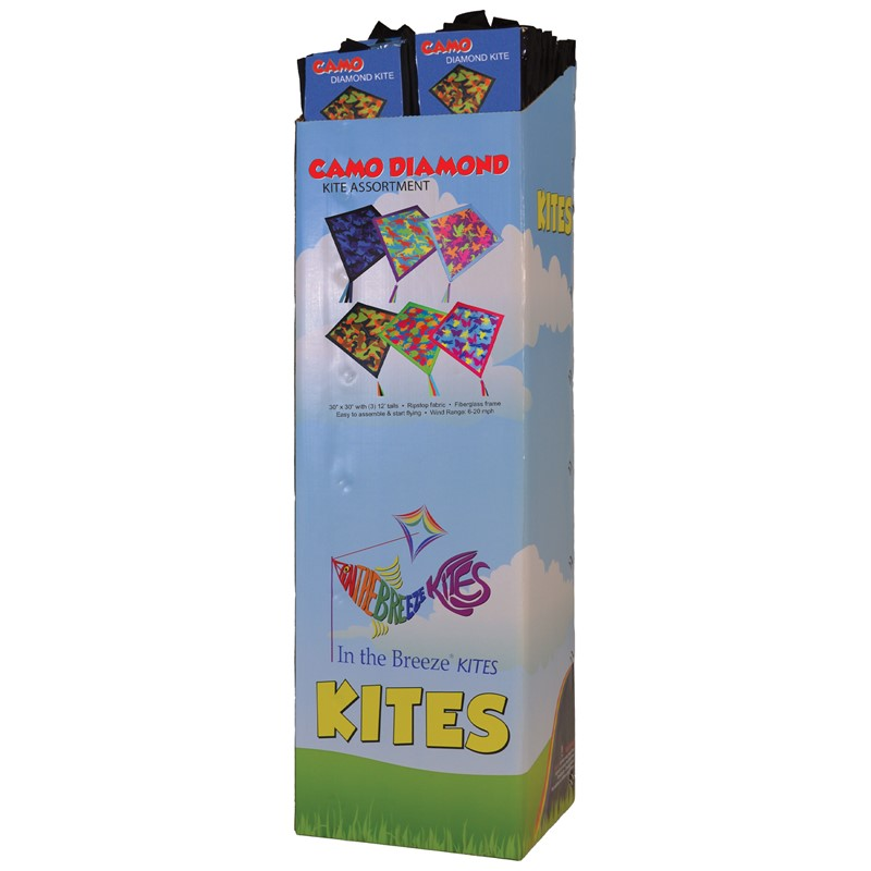 "Camouflage 30"" Diamond Kite Assortment - 32PC POP 