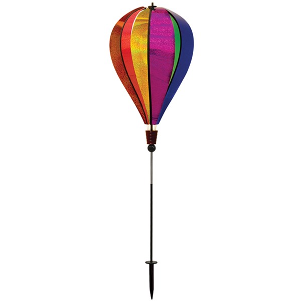 View Rainbow Glitter 6 Panel Hot Air Balloon Ground Spinner