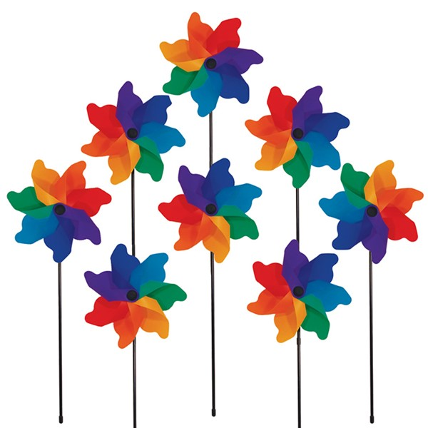 View Rainbow Poly Petal Spinners - 8 PC