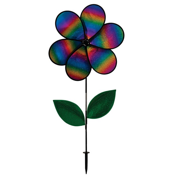 "View 19"" Rainbow Whirl Flower Spinner"