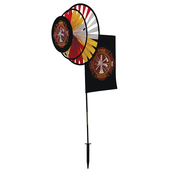 View Fire Rescue Dual Spinner Wheels with Garden Flag