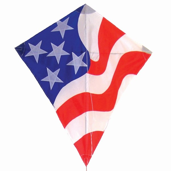"View Patriotic 32"" Diamond Kite"