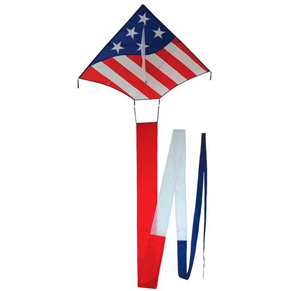 View Patriot 5' Delta Kite with 32' Tail