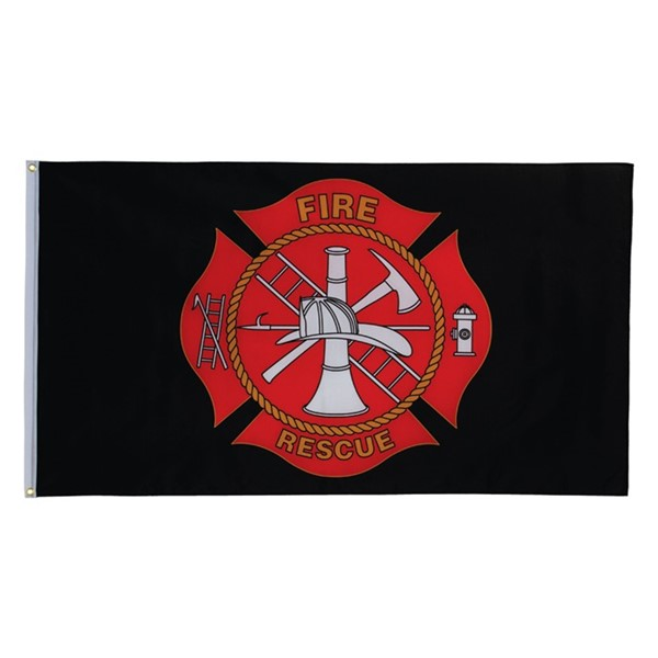 View Fire Rescue 3x5 Grommet Flag