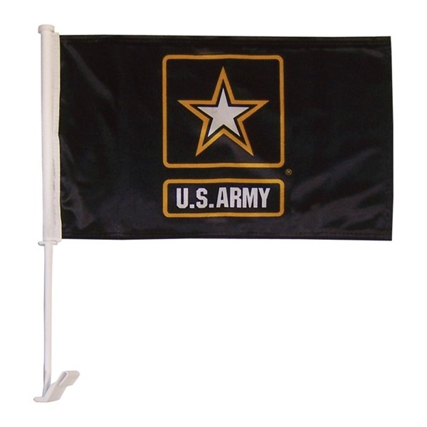 View U.S. Army Logo Car Flag