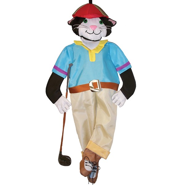 View Cool Cat Golfer Wind Friend*