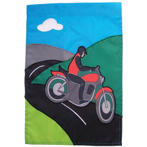 View Motorcycle Man House Banner*