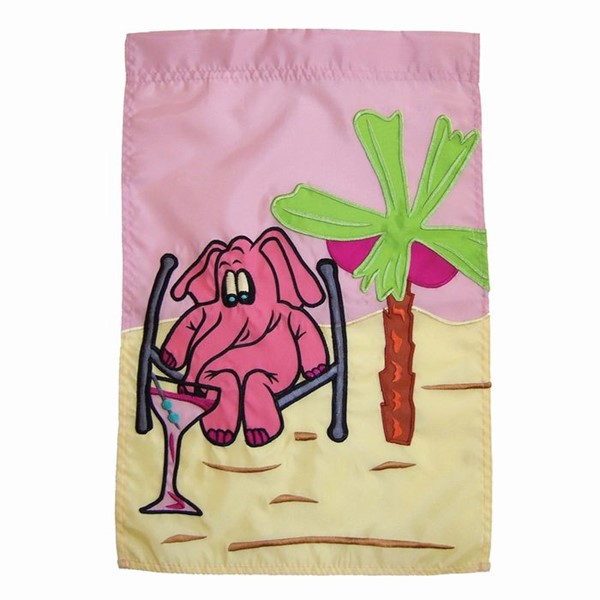 View Pink Elephant Garden Flag*