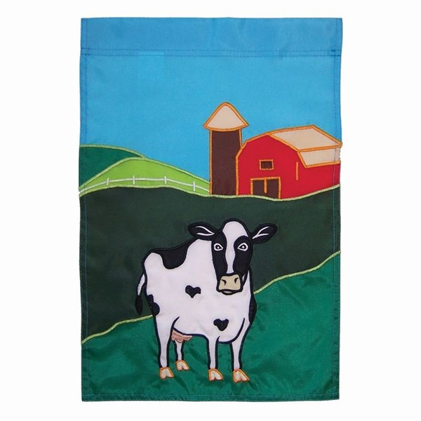 View Farm Cow Garden Flag*