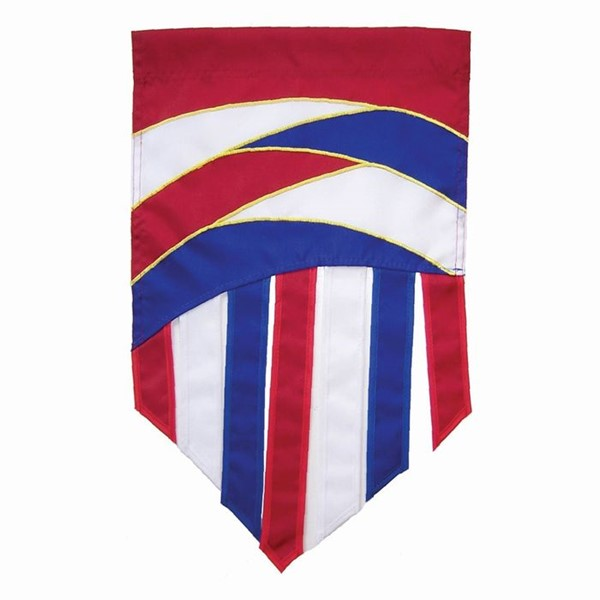 View Patriot Curves Garden Flag Tails*