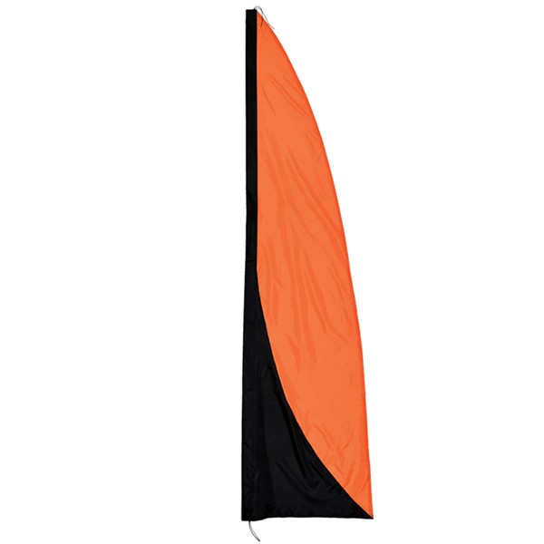 View Orange and Black 8.5' Color Banner