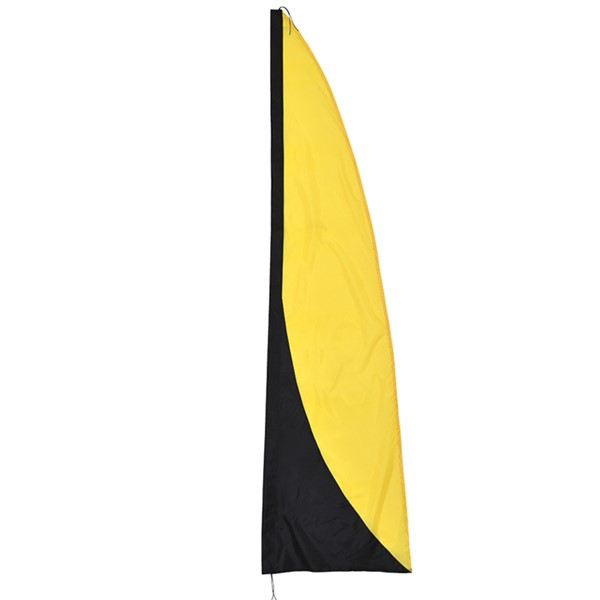 View Yellow and Black 8.5' Color Banner