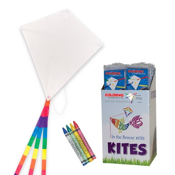 View Diamond Coloring Kite 36 PC Display