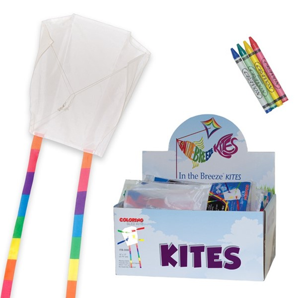 View Sled Coloring Kite 36 PC Display