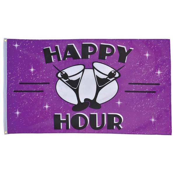 View Happy Hour 3x5 Grommet Flag