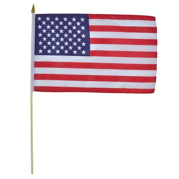 View U.S. Flag 12x18 Stick Flag - 12 PC