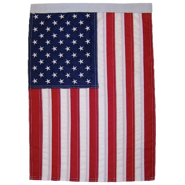 View US Flag Embroidered House Banner