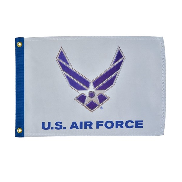 View U.S. Air Force Wings Lustre 12x18 Grommet Flag