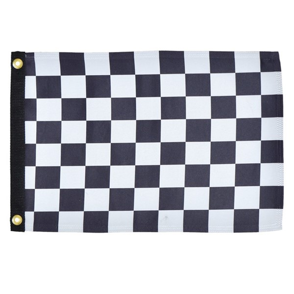 View Checkered Flag Lustre 12x18 Grommet Flag