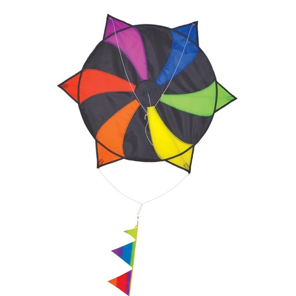 View Rainbow Spikey Ball Kite