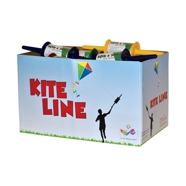 View 50# x 500' Twisted Kite Line on Spool 24 PC Bulk Pack
