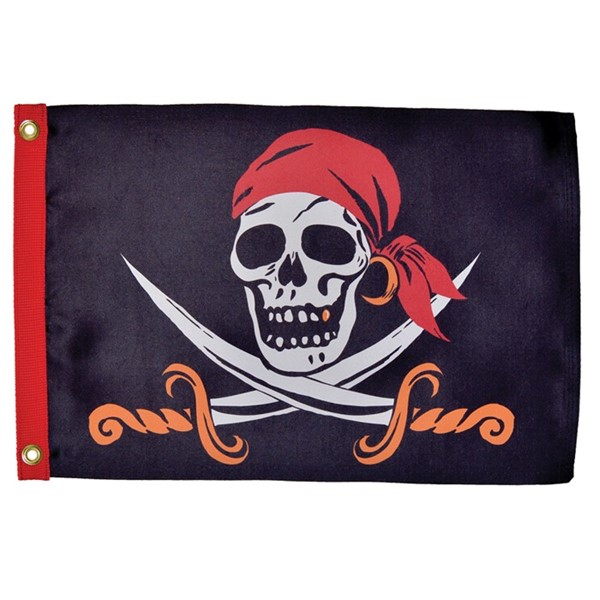 View Captain Cutlass Lustre 12x18 Grommet Flag