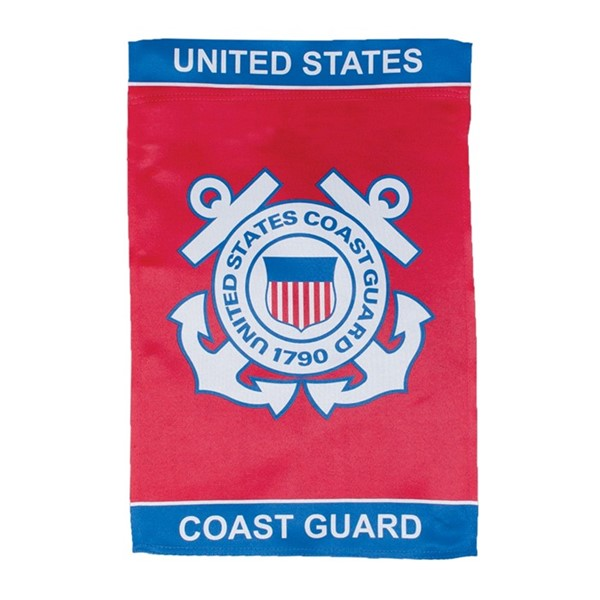 View U.S. Coast Guard Lustre Garden Flag