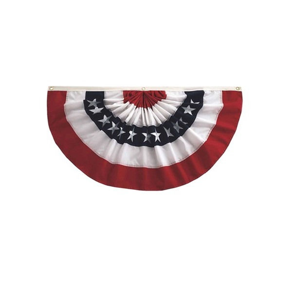 View Pleated Fan Patriotic Bunting, 1.5' x 3'