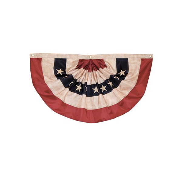 View Pleated Fan Americana Bunting, 1.5' x 3'