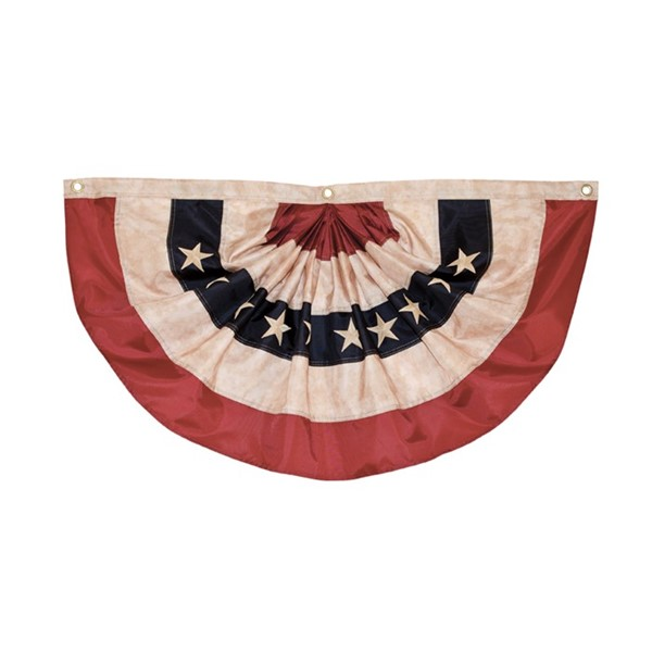 View Pleated Fan Americana Bunting, 2' x 4'