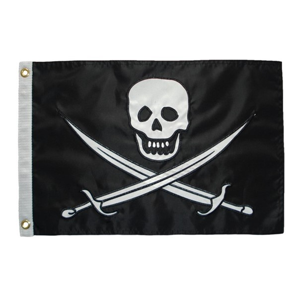 View Calico Jack Applique 12x18 Grommet Flag
