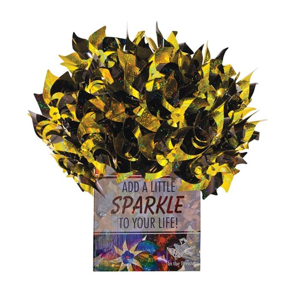 View Black & Yellow Spirit Pinwheels 48 PC POP Display