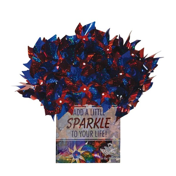 View Blue & Red Spirit Pinwheels 48 PC POP Display