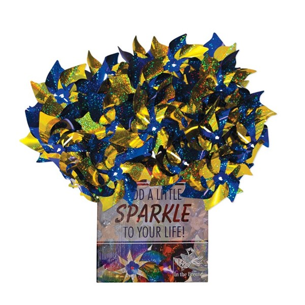 View Blue & Yellow Spirit Pinwheels 48 PC POP Display