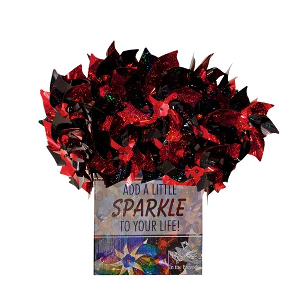 View Red & Black Spirit Pinwheels 48 PC POP Display
