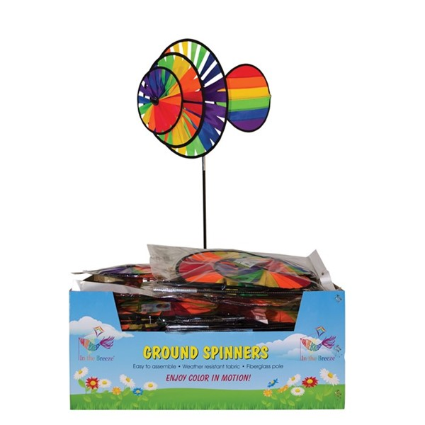 View Small Rainbow Triple Wheel Wind Sail 20 PC Display