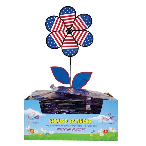 View Large Patriotic Flower with Leaves 20 PC Display