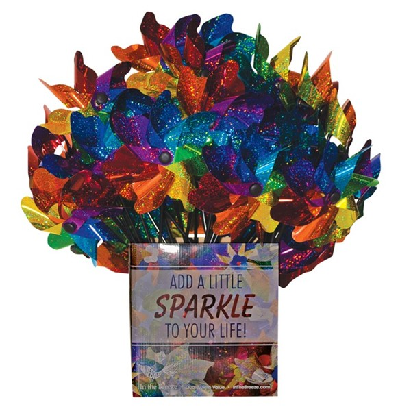 View Rainbow Sparkle Pinwheel Spinner 40 PC POP Display