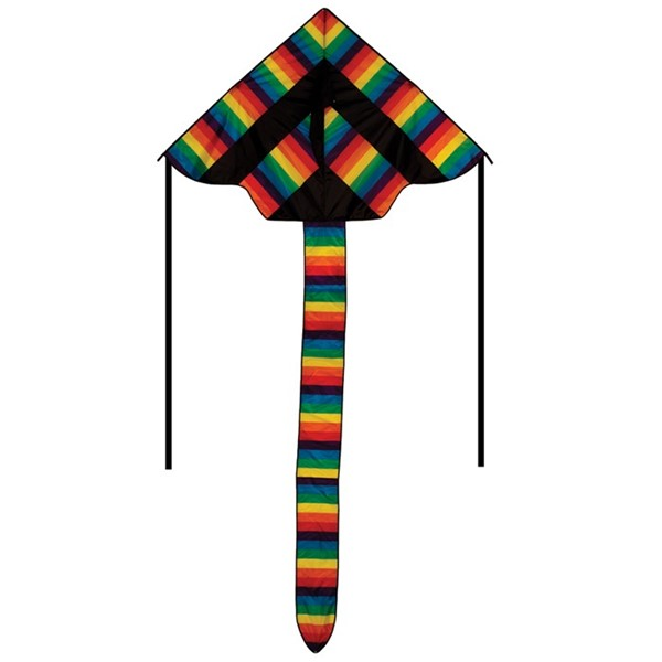 "View Rainbow Stripe 70"" Fly-Hi Kite"