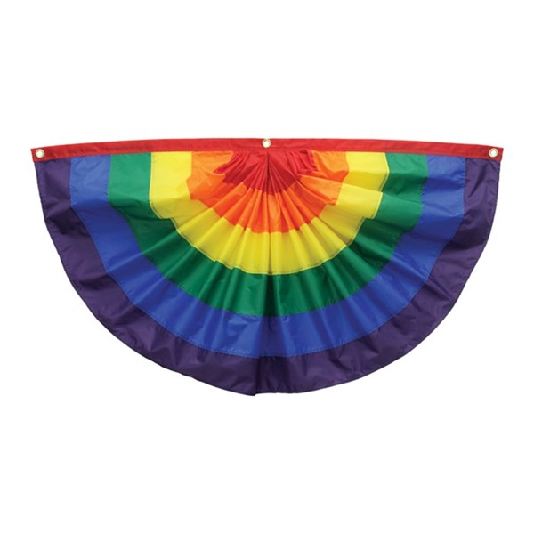 View Pleated Fan Rainbow 2' x 4' Bunting