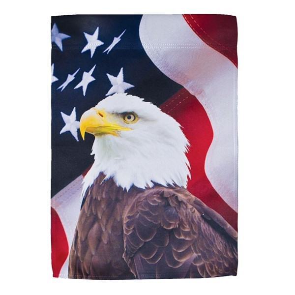 View U.S. Eagle Lustre Garden Flag
