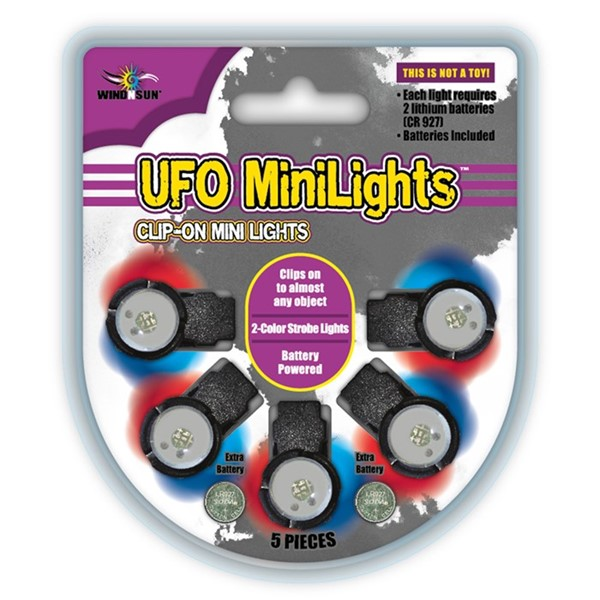 View UFO Red/Blue LED MiniLights 5 PC