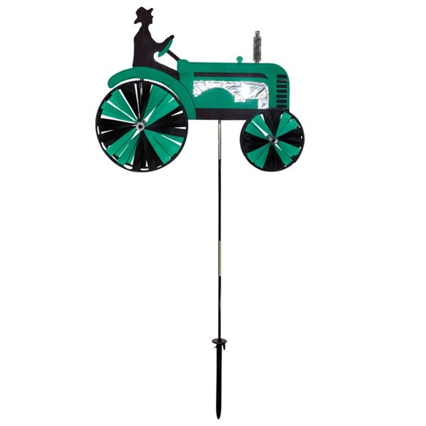 "View 24"" Green Tractor Spinner"