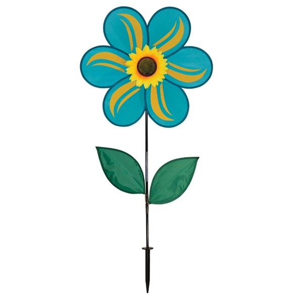 "View 19"" Teal Sunflower Spinner"