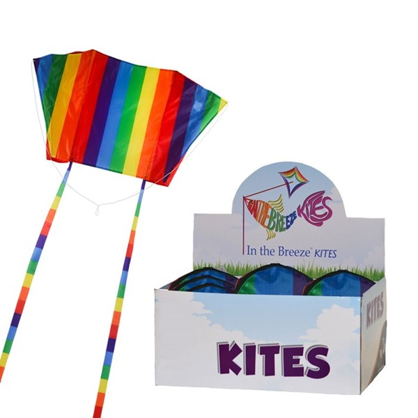 View Rainbow Striped Sled Kite 24 PC POP Display