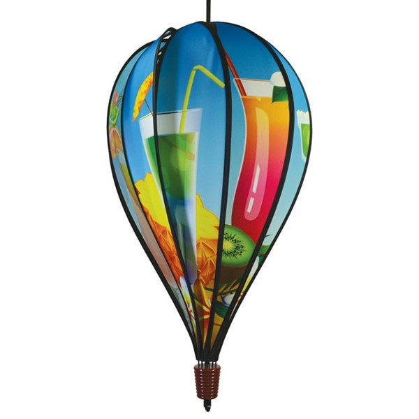 View Tropical Drinks 10 Panel Hot Air Balloon Spinner