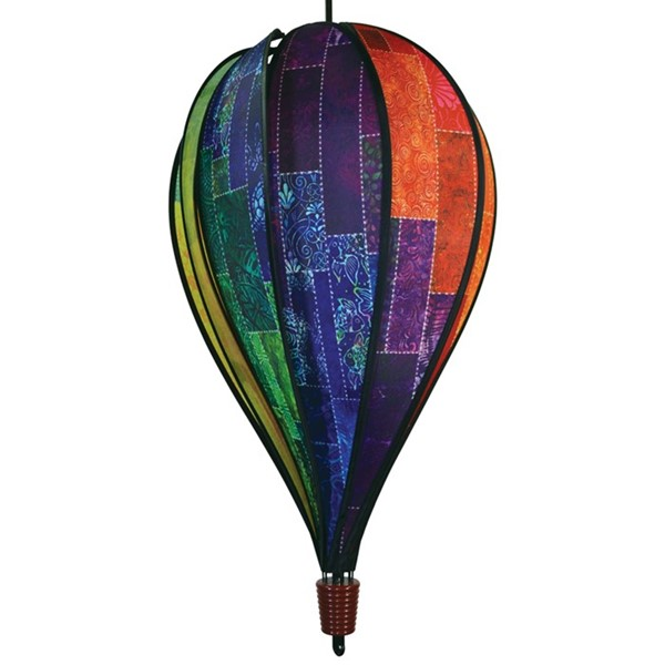 View Batik Quilt 10 Panel Hot Air Balloon Spinner