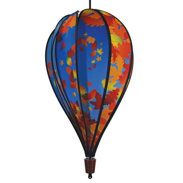 View Fall Leaves 10 Panel Hot Air Balloon Spinner